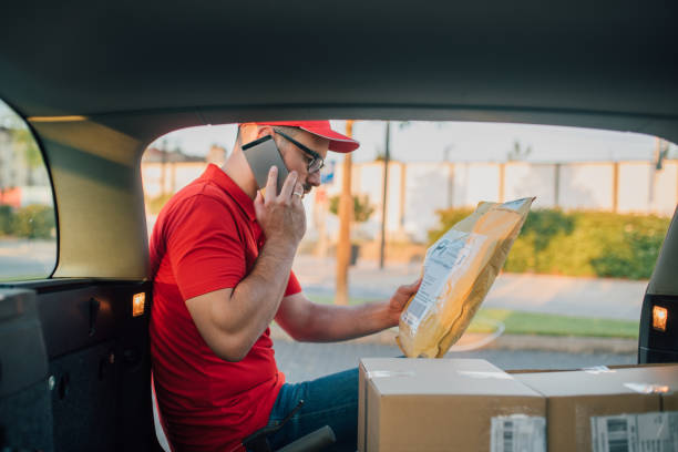 Delivery problems stock photo
