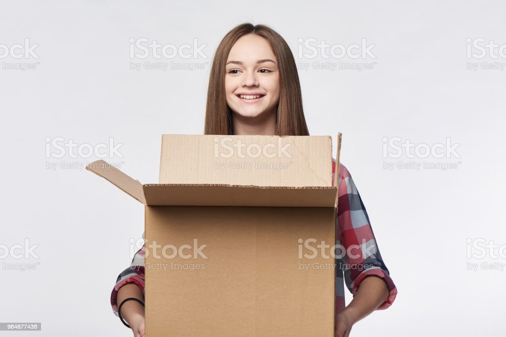 Delivery, relocation and unpacking. royalty-free stock photo