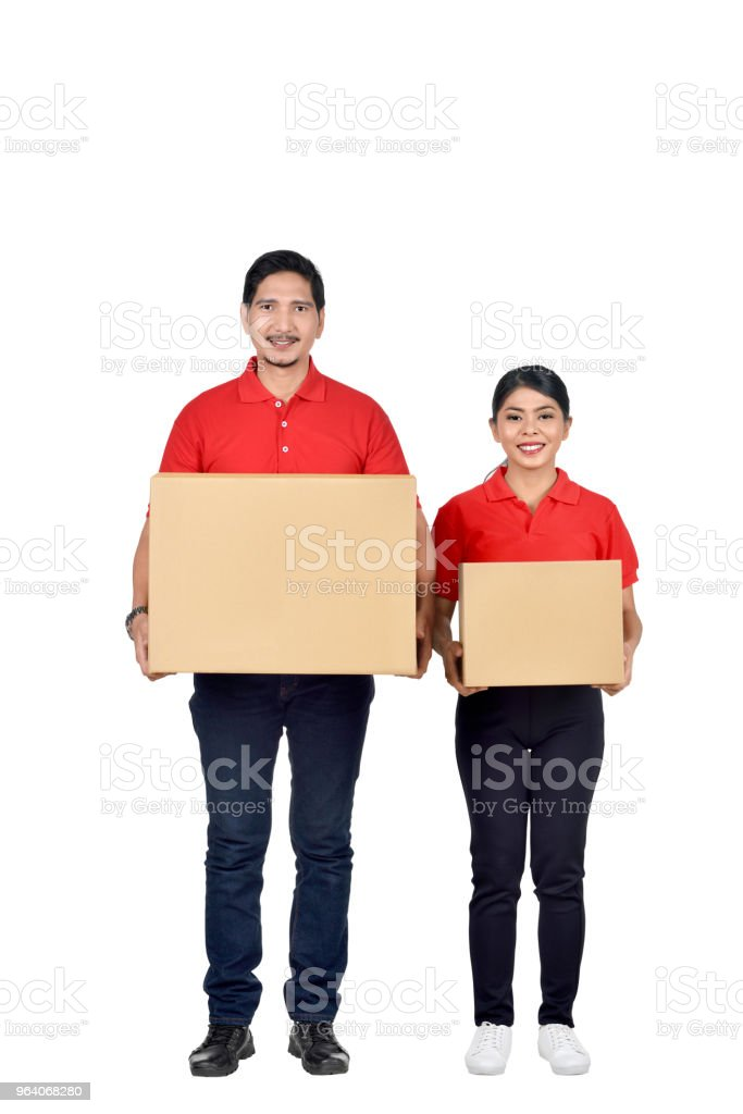 Delivery service team group standing - Royalty-free Adult Stock Photo