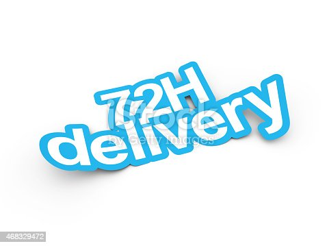 Delivery sticker 3d render illustration