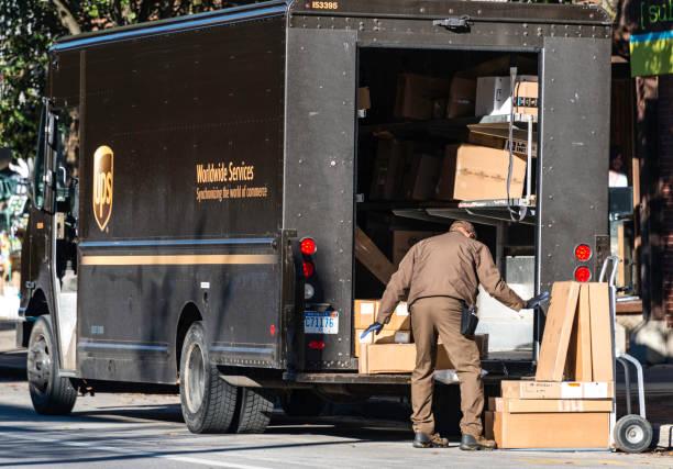 UPS Delivery, Traverse City, Michigan – Foto