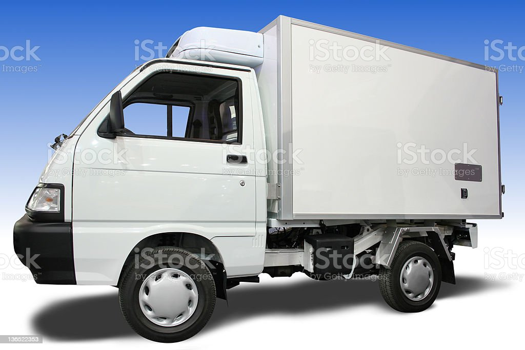 Delivery truck royalty-free stock photo