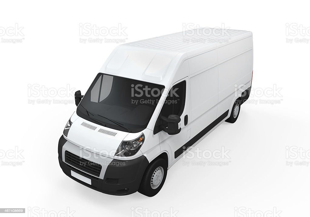 Delivery Van Isolated royalty-free stock photo