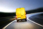 istock Delivery van on highway 482967371