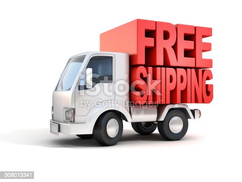 istock delivery van with free shipping letters on back 508013341