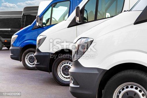 Vans in a row