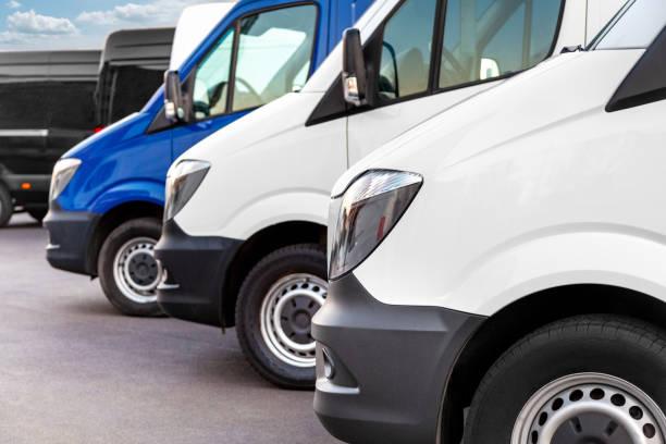 Delivery vans stock photo