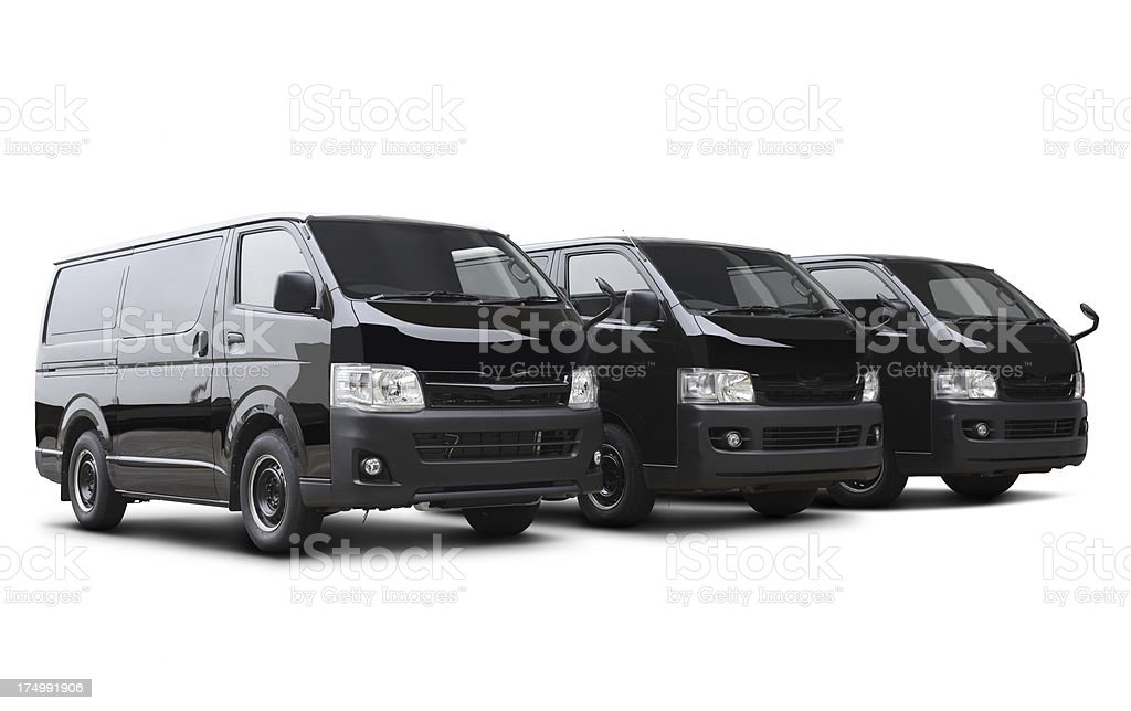 Delivery Vans royalty-free stock photo
