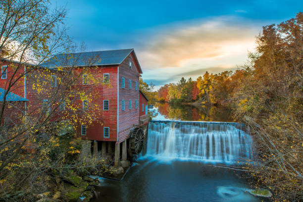 Dells Grist Mill Wisconsin, Famous Place, Water, Waterfall, Wheel wisconsin stock pictures, royalty-free photos & images