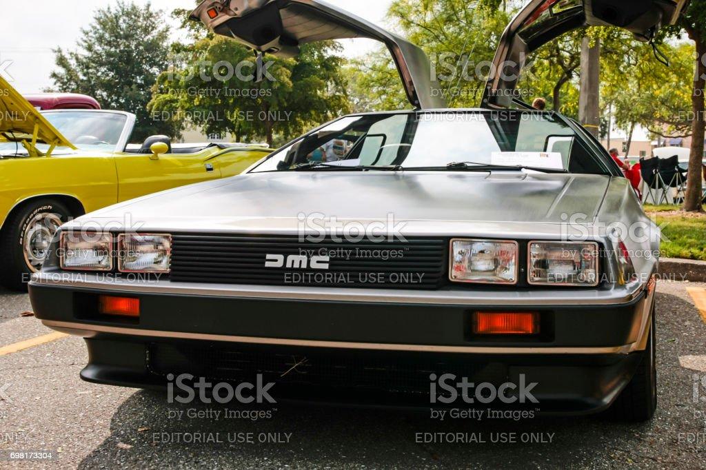 A 1981 Delorean DMC-12 car at the car show in Venice, FL, USA stock photo