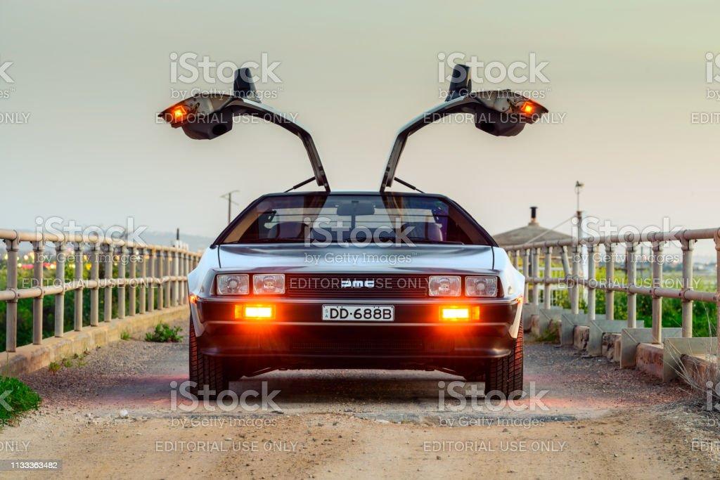 DeLorean DMC-12 car stock photo