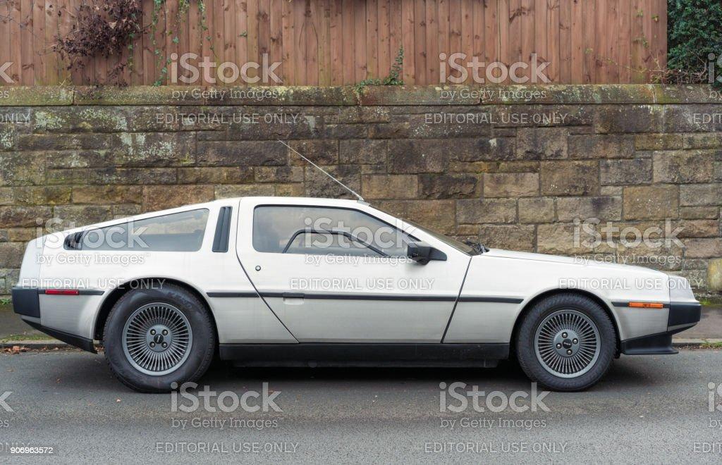 DeLorean DMC-12 sports car stock photo