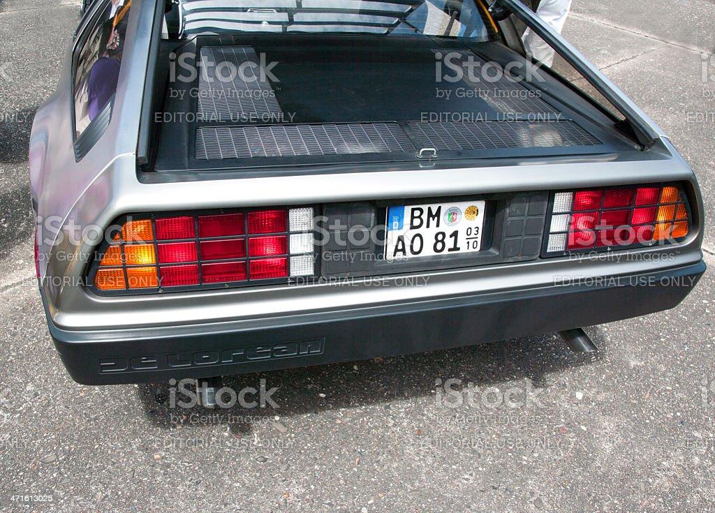 DeLorean sportscar stock photo