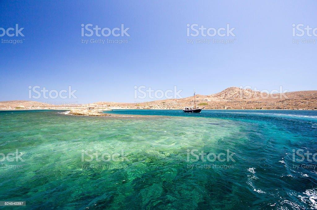Delos in the Cyclades, Greece stock photo