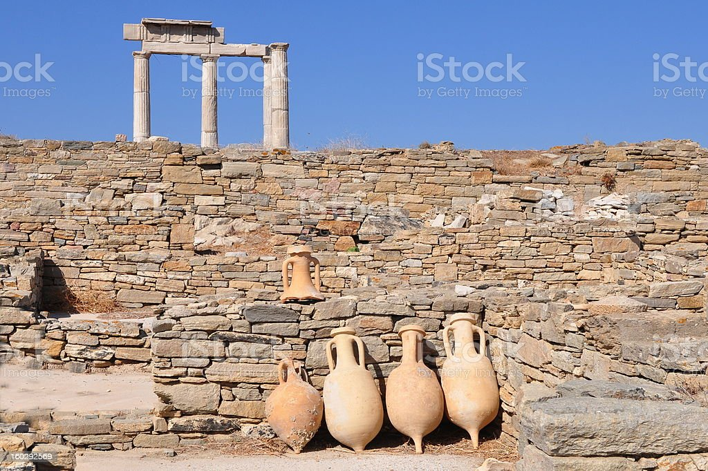Delos island in Greece royalty-free stock photo