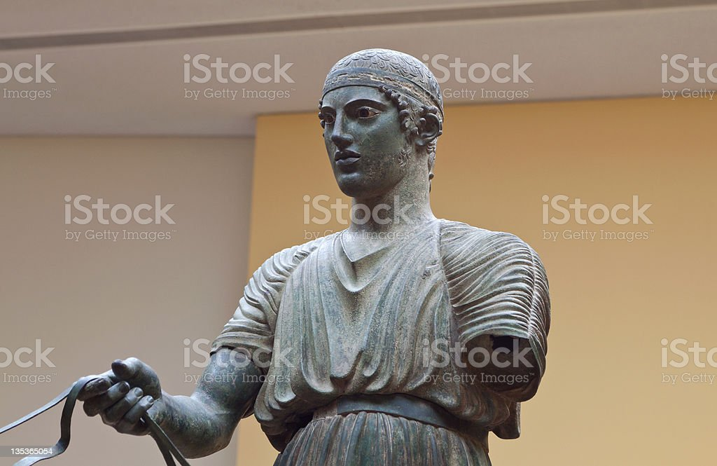 Delphi museum in Greece stock photo