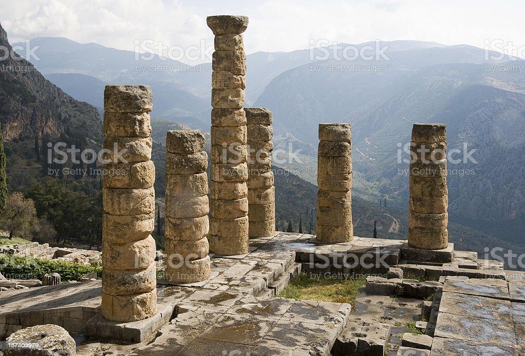 Delphi: Temple of Apollo stock photo