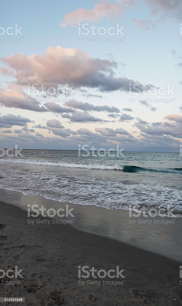 Delray at Sunset stock photo