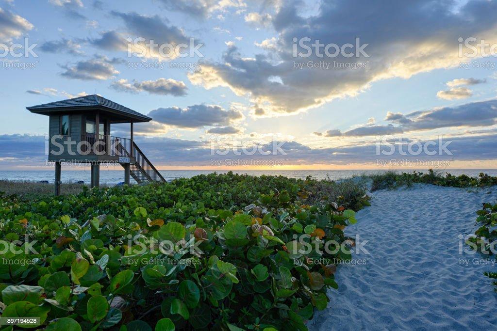 Delray Beach in Florida stock photo