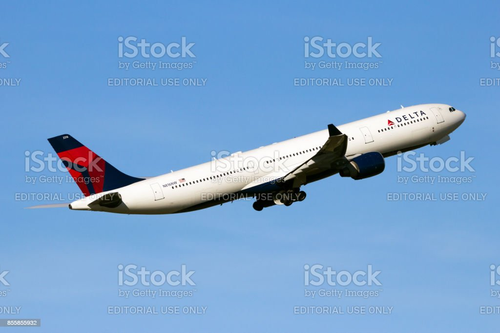 Delta Air Lines Airbus A330 stock photo