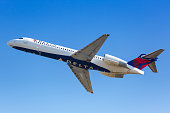 istock Delta Air Lines Boeing 717-200 airplanes Atlanta airport 1256162309