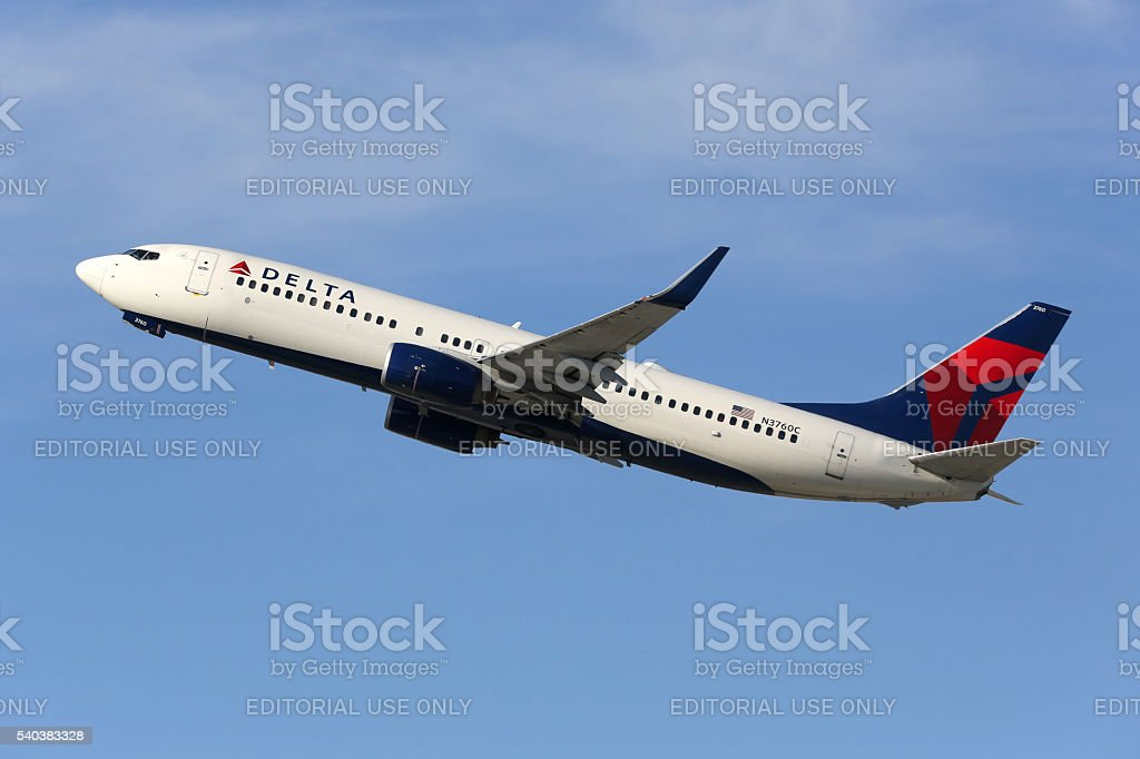 Delta Air Lines Boeing 737-800 airplane stock photo