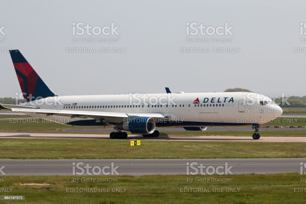 Delta Air Lines Boeing 767 royalty-free stock photo
