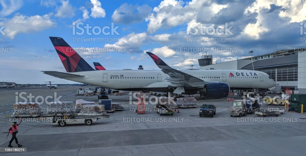 Delta Airbus A350-900 N506DN stock photo