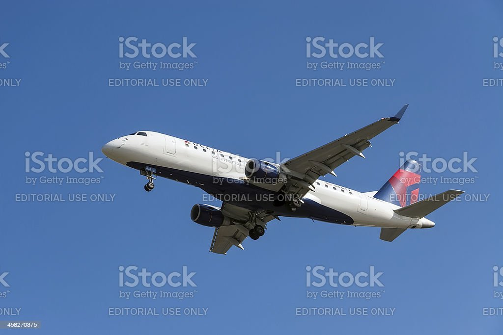 Delta Airlines aircraft royalty-free stock photo