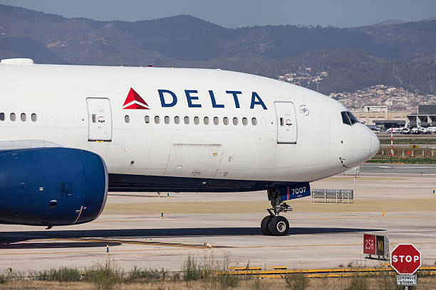 Delta Airlines Boeing 777-200ER Nose stock photo