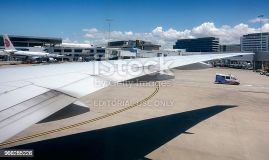 istock Delta Airlines Flight DAL40 begin taxiing 966285226