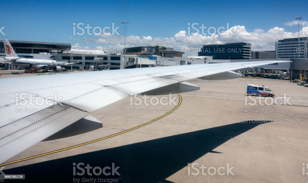 Delta Airlines Flight DAL40 begin taxiing stock photo