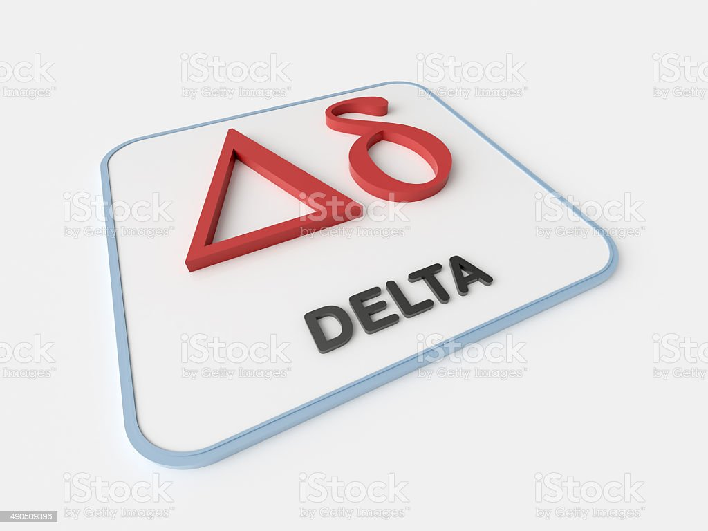Delta Greek Symbol Stock Photo Istock