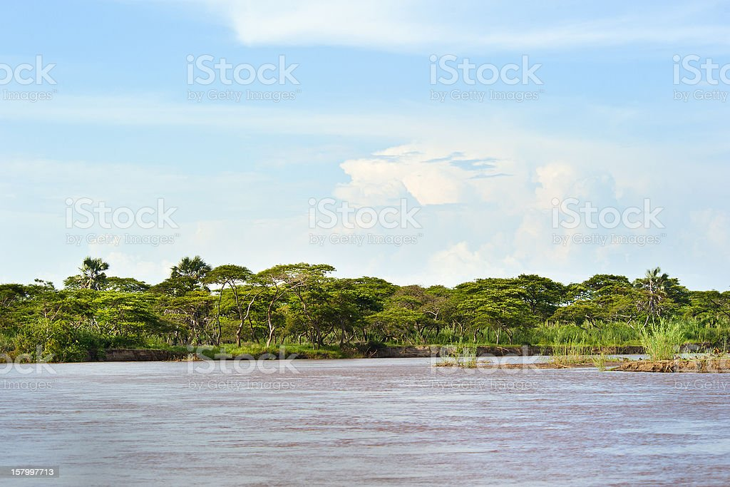 Delta of the Ruzizi River at Bujumbura, Burundi stock photo