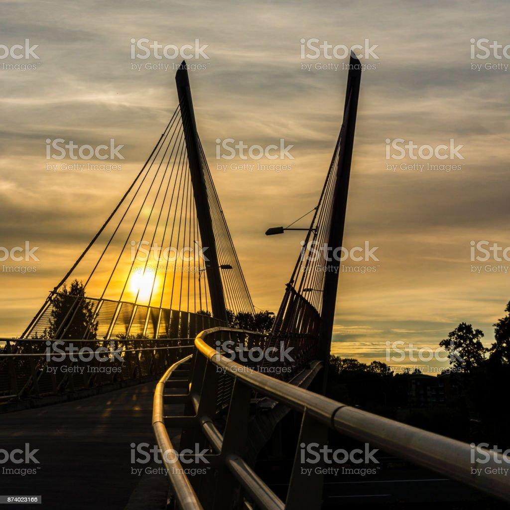 Delta Ponds Bridge 1 stock photo