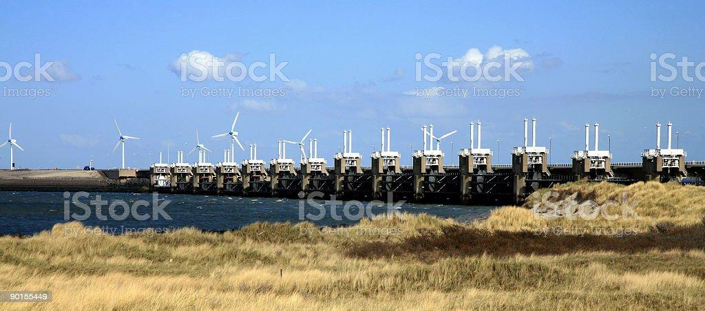 Delta Works - Netherlands royalty-free stock photo