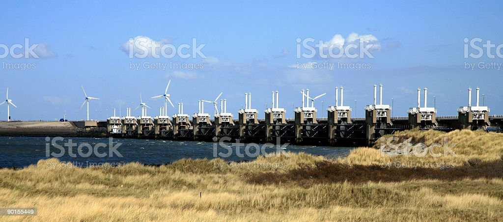Delta Works - Netherlands stock photo
