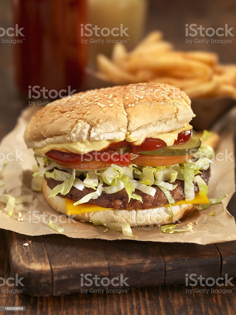 Deluxe CheeseBurger royalty-free stock photo