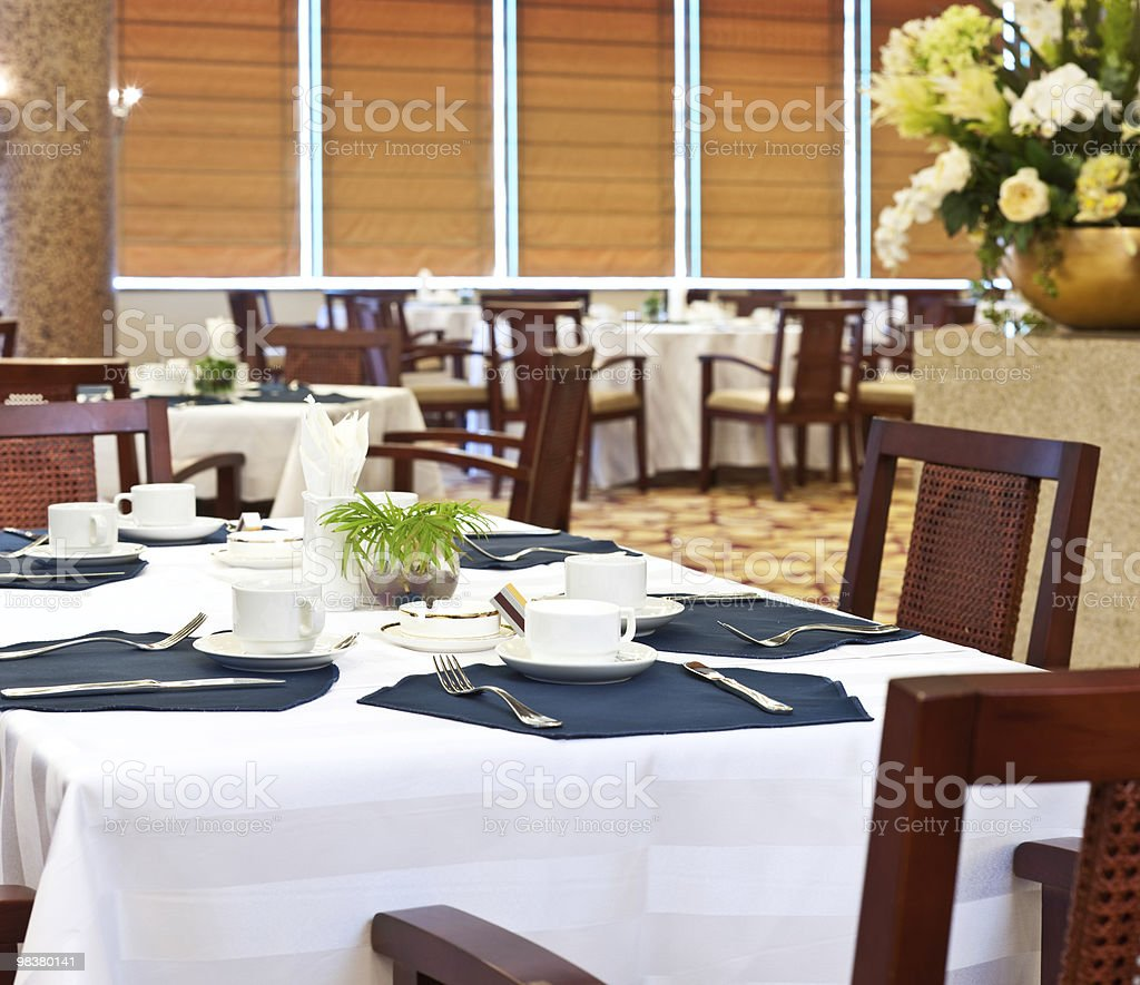 deluxe dining room in hotel royalty-free stock photo