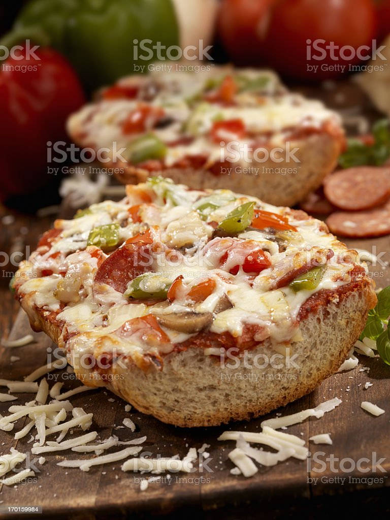 Deluxe French Bread Pizza stock photo