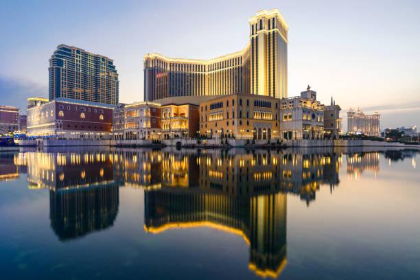 Hotel de lujo y Resort Casino en Macao - foto de stock