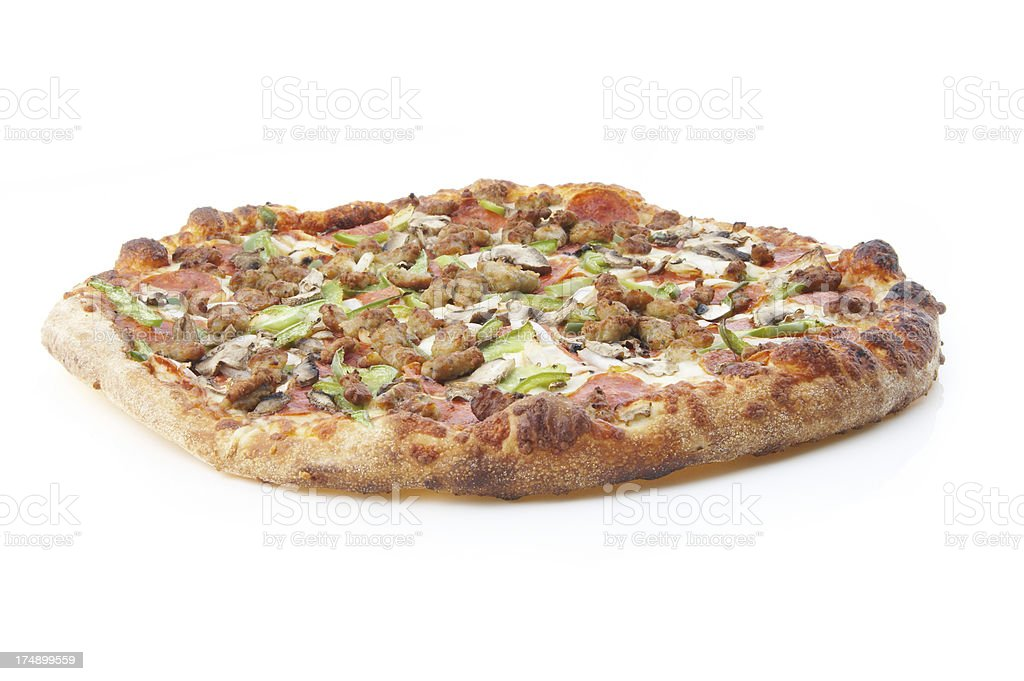 deluxe pizza #3 royalty-free stock photo