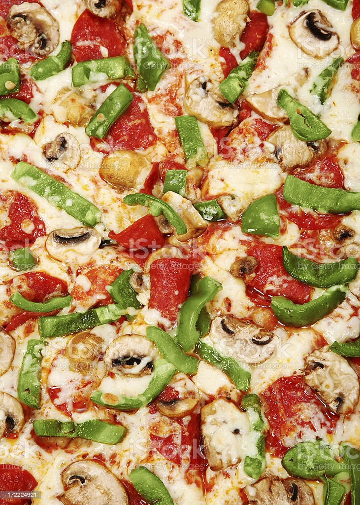 Deluxe Pizza Texture royalty-free stock photo