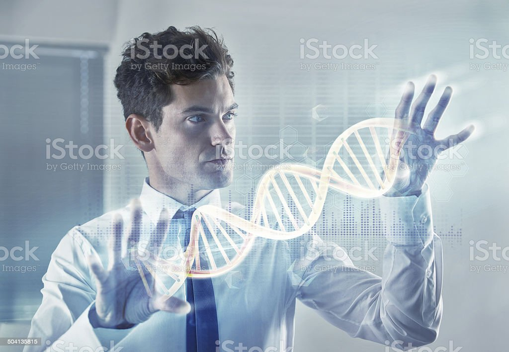 Delving into ourselves stock photo