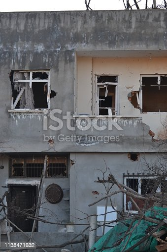 istock Demaged House With the Terrorist Bomb Attack 1138471632