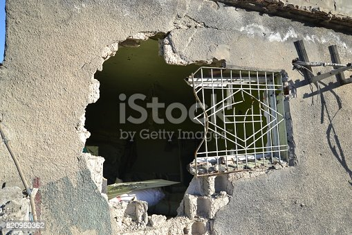 istock Demaged House With the Terrorist Bomb Attack 820960362
