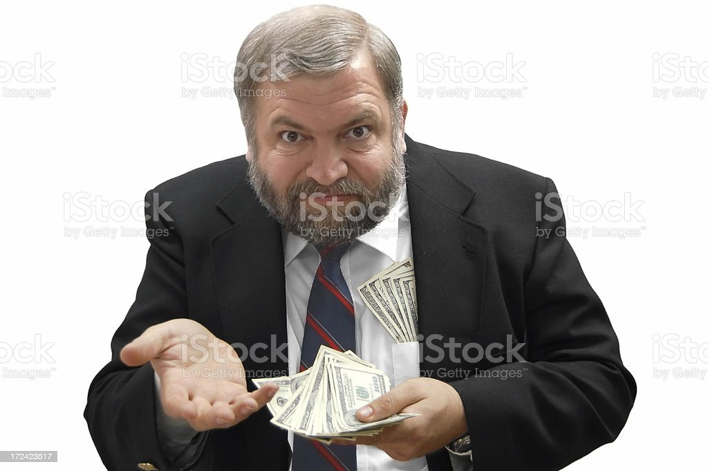 Demanding Payment stock photo