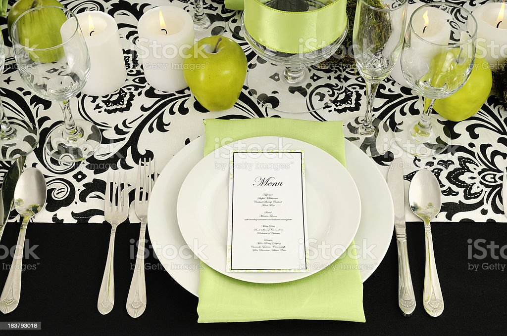 Demasque Formal Table Designs For 2010 royalty-free stock photo