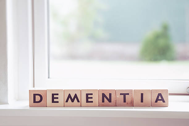 Dementia sign in a window - Photo