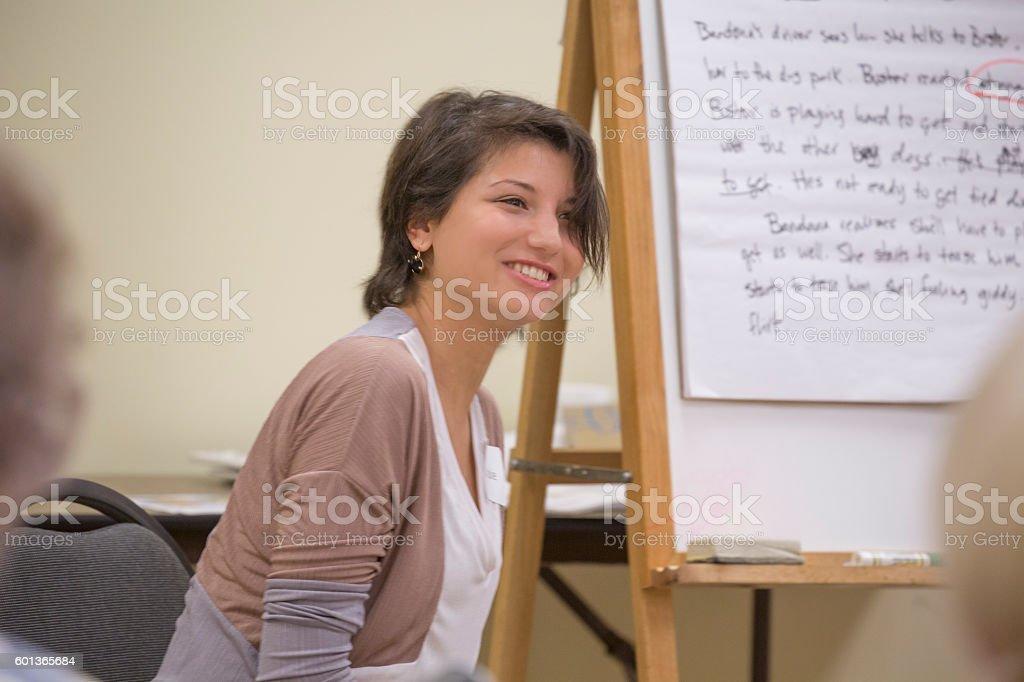 Dementia training for elderly patients stock photo
